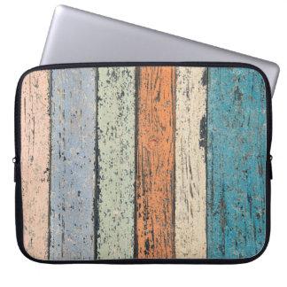 Sleeve Para Notebook Teste padrão de madeira gasto