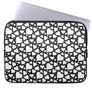 Sleeve Para Notebook Teste padrão dos corações do dia dos namorados. A