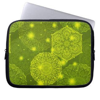Sleeve Para Notebook Teste padrão luxuoso floral da mandala