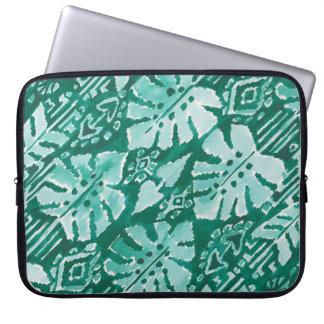 Sleeve Para Notebook Tropical tribal verde havaiano da SELVA IKAT