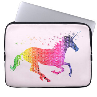 Sleeve Para Notebook Unicórnio do rosa de arco-íris