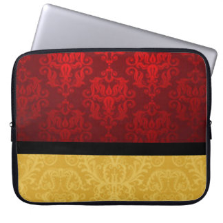 Sleeve Para Notebook Vermelho & damasco do ouro