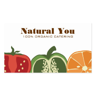 sliced fruit vegetable chef catering business ccar business cards