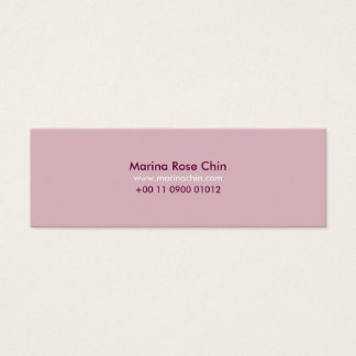 Slim Pink Business Card Cartão De Visitas Mini