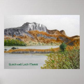 Slioch e impressão de Maree do Loch