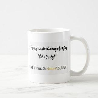 Slogan 1 dos soldados da natureza caneca de café