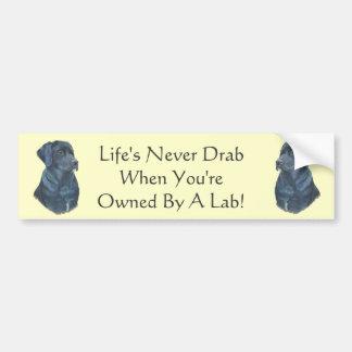 slogan amusing do cão preto de labrador retriever adesivo