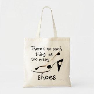 Slogan bonito dos calçados para a forma Shopaholic Sacola Tote Budget