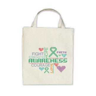 Slogan coloridos da infecção hepática bolsas