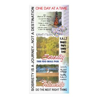 slogan da recuperação 10.16 x 22.86cm panfleto
