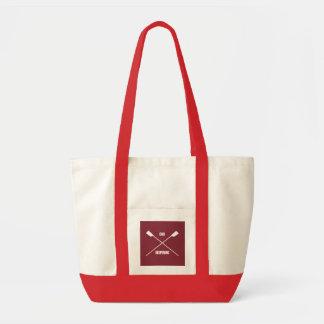 Slogan de inspiração do remo e marrom cruzado dos sacola tote impulse