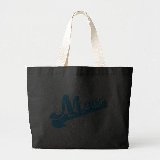 Slogan de Mathlete para amantes da matemática Bolsa Para Compras