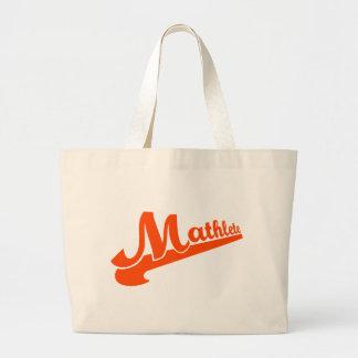 Slogan de Mathlete para amantes da matemática Sacola Tote Jumbo