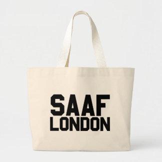 Slogan de Saaf Londres Sacola Tote Jumbo