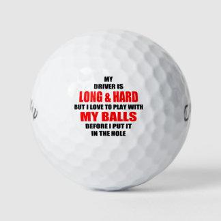Slogan divertido da bola de golfe