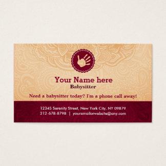 Slogan do cuidador cartão de visitas