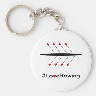 Slogan e barco do enfileiramento do amor chaveiro