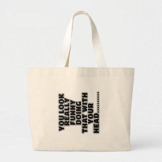 Slogan engraçado bolsa para compra