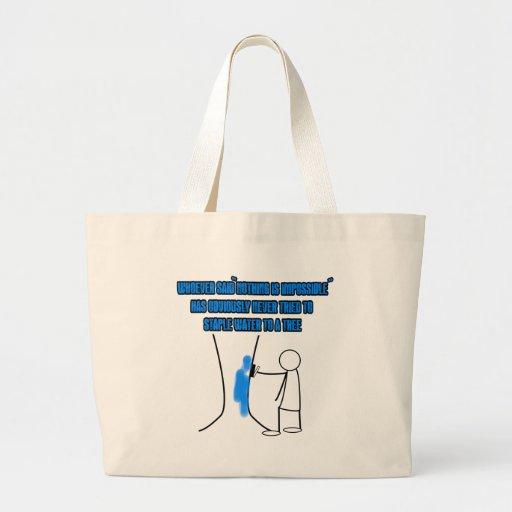 Slogan engraçado do stickman bolsas de lona