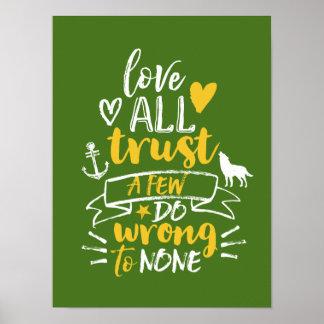 Slogan inspirado da vida do poster das citações da