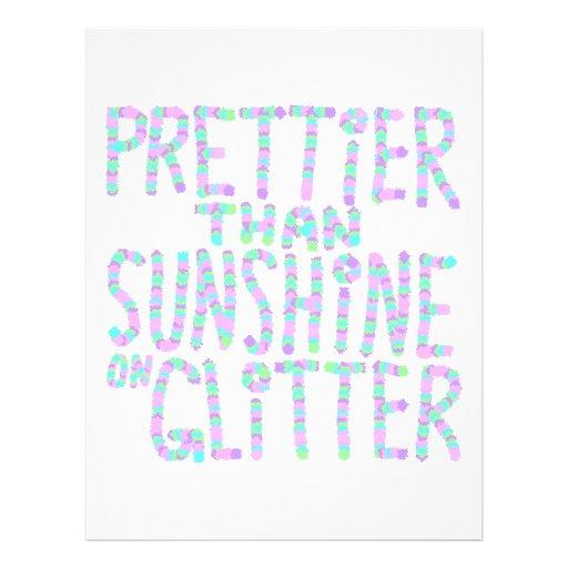 Slogan - mais bonito do que a luz do sol no Glitte Panfletos Personalizado