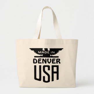 Slogan patriótico Totebag de Denver do vintage Bolsa De Lona