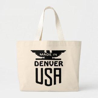 Slogan patriótico Totebag de Denver do vintage Sacola Tote Jumbo