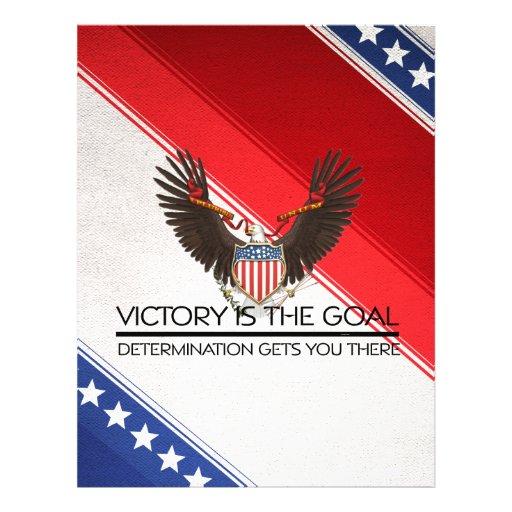 Slogan político da vitória do T Panfletos Personalizado