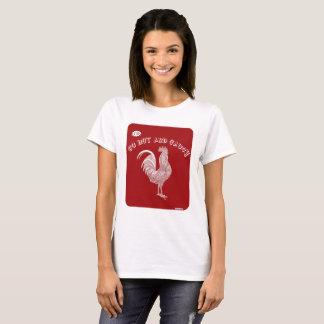 Slogan quente e picante camiseta