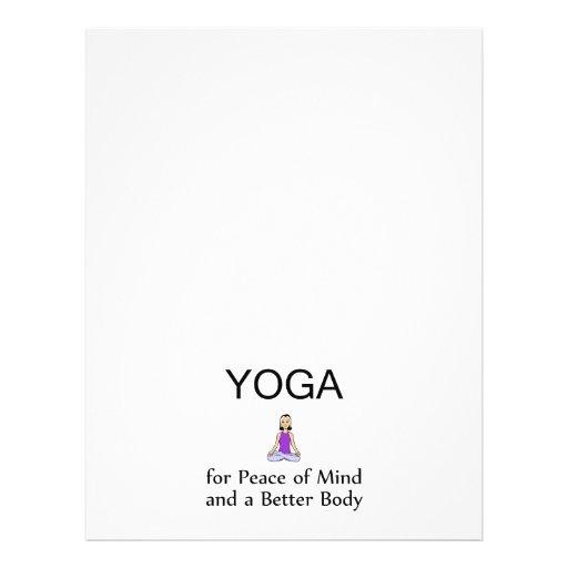 Slogan SUPERIOR da ioga Panfletos