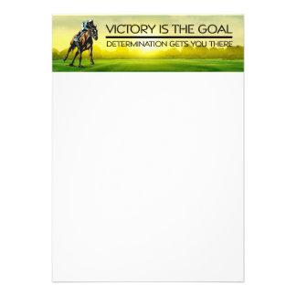 Slogan SUPERIOR da vitória da corrida de cavalos Convites Personalizado