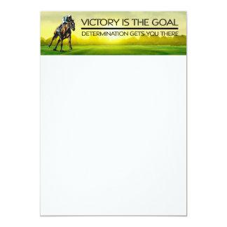 Slogan SUPERIOR da vitória da corrida de cavalos Convite 12.7 X 17.78cm