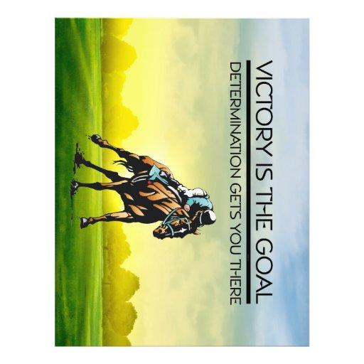 Slogan SUPERIOR da vitória da corrida de cavalos Panfletos Coloridos