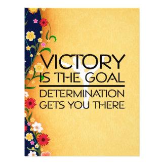 Slogan SUPERIOR da vitória da ginástica Modelo De Panfletos
