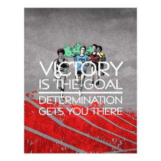 Slogan SUPERIOR da vitória da trilha Modelo De Panfleto