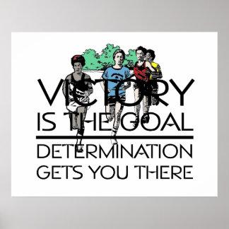 Slogan SUPERIOR da vitória da trilha Poster