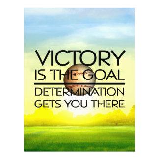 Slogan SUPERIOR da vitória do basebol Panfletos