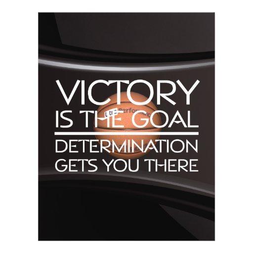Slogan SUPERIOR da vitória do basquetebol Panfleto Personalizados