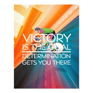 Slogan SUPERIOR da vitória do ciclismo Panfletos Personalizados