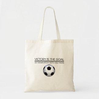 Slogan SUPERIOR da vitória do futebol Bolsa Tote