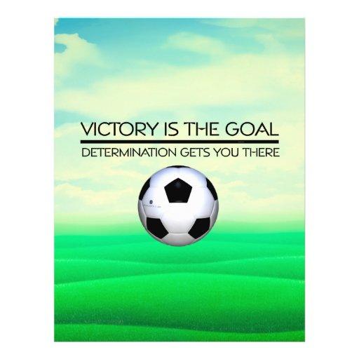 Slogan SUPERIOR da vitória do futebol Panfleto Personalizados