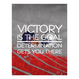 Slogan SUPERIOR da vitória do futebol Panfletos