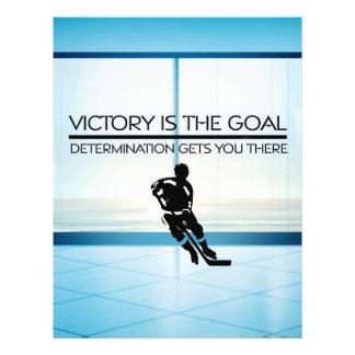 Slogan SUPERIOR da vitória do hóquei Panfletos Personalizados