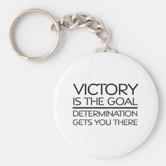 Slogan SUPERIOR da vitória Chaveiros