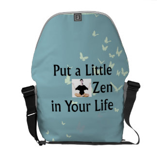 Slogan SUPERIOR do zen Bolsas Mensageiro