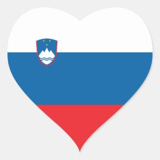Slovenia/bandeira Slovene/eslovena do coração Adesivo Coração