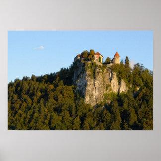 Slovenia, sangrado, lago sangrado, castelo sangrad pôster