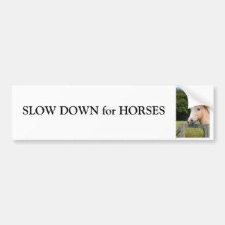 Slow down do cavalo para o autocolante no vidro tr adesivo para carro