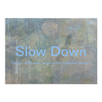 Slow Down Pôsteres
