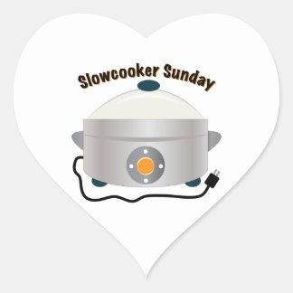Slowcooker domingo adesivo coração